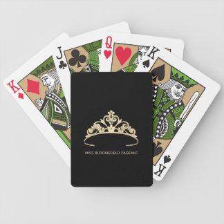 Jeu De Cartes Cartes de jeu faites sur commande de diadème d'or