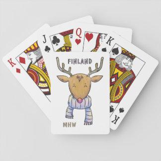 Jeu De Cartes Cartes de jeu faites sur commande de monogramme de