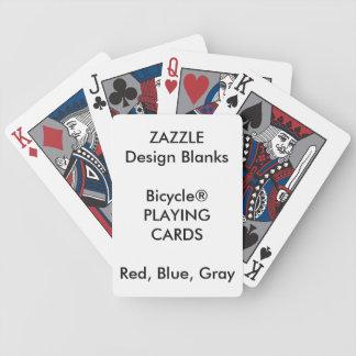 Jeu De Cartes Cartes de jeu GRISES personnalisées de ROUGE BLEU
