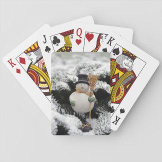 Jeu De Cartes Cartes de jeu hivernales de bonhomme de neige