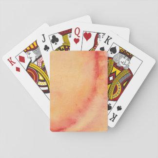 Jeu De Cartes Cartes de jeu marbrées par coucher du soleil