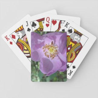 Jeu De Cartes Cartes de jeu pourpres de fleur