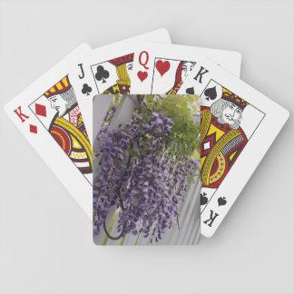 Jeu De Cartes Cartes de jeu pourpres de fleur de glycines