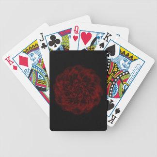 Jeu De Cartes Cartes de jeu Romance rougeoyantes de rose rouge