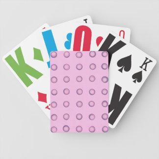 Jeu De Cartes Cartes de jeu roses et pourpres posées de pois