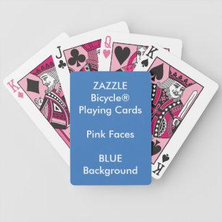 Jeu De Cartes Cartes de jeu roses faites sur commande BLEUES de