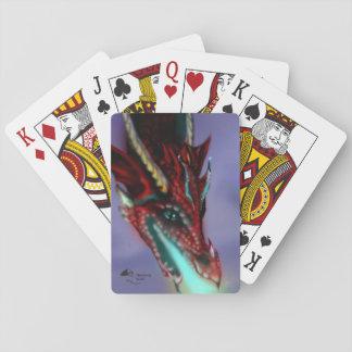 Jeu De Cartes Cartes de jeu rouges de dragon