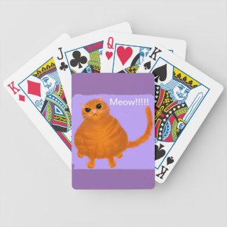 Jeu De Cartes Cartes de jeu rouges potelées de chat tigré
