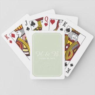 Jeu De Cartes Cartes de jeu simplement élégantes de vert