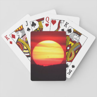 Jeu De Cartes Cartes de jeu spéciales de coucher du soleil