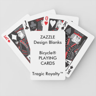 Jeu De Cartes Cartes de jeu tragiques personnalisées de Royalty™