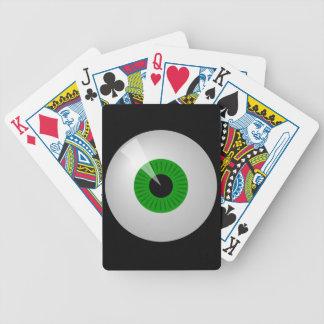 Jeu De Cartes Cartes de jeu vertes de globe oculaire d'oeil de