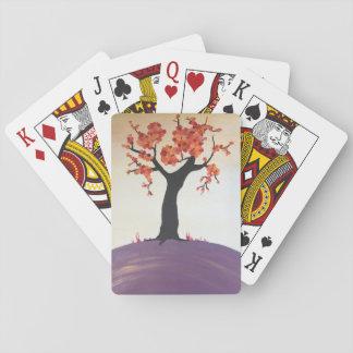 Jeu De Cartes Cartes de jeu vibrantes d'impression d'arbre