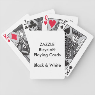 Jeu De Cartes Cartes noires et blanches de Bicycle® fait sur