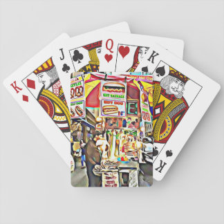Jeu De Cartes Cartes photos de support de hot-dog de New York