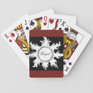 Jeu De Cartes Cartes rouges et noires du soleil royal