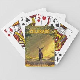 Jeu De Cartes Cerfs communs de mâle du Colorado