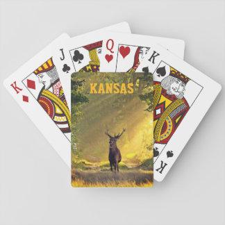Jeu De Cartes Cerfs communs de mâle du Kansas