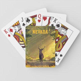 Jeu De Cartes Cerfs communs de mâle du Nevada