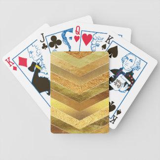 Jeu De Cartes Chevrons à la mode de feuille d'or de Faux