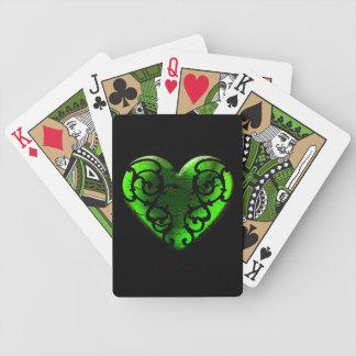 Jeu De Cartes Coeur de vert de jour de Goth St Patrick