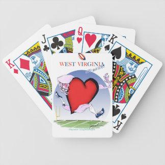 Jeu De Cartes coeur principal de W la Virginie, fernandes