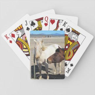 Jeu De Cartes Deux cartes de jeu de chevaux