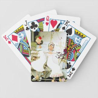 Jeu De Cartes Deux cartes de jeu de jeunes mariées