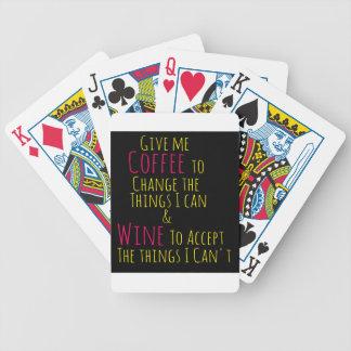 Jeu De Cartes Donnez-moi le café pour changer les choses que je