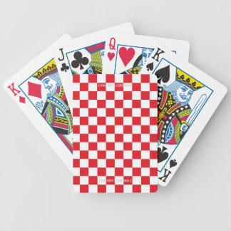 Jeu De Cartes Drapeau checkered rouge