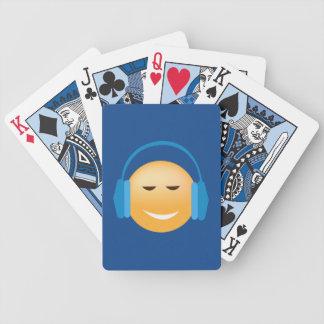 Jeu De Cartes Emoji avec des cartes de jeu d'écouteurs