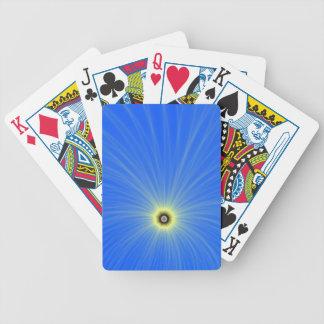 Jeu De Cartes Explosion jaune de couleur sur les cartes de jeu