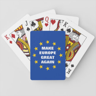 Jeu De Cartes Faites à l'Europe la grande encore euro