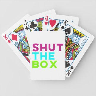 Jeu De Cartes Fermez les cartes de jeu de logo de boîte