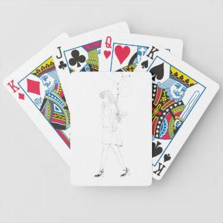 Jeu De Cartes Fille avec des cartes de jeu de tisonnier de