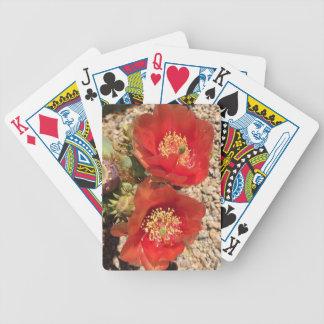 Jeu De Cartes Fleur rouge de cactus
