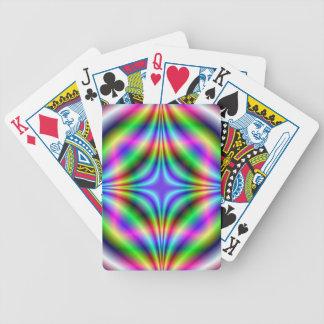 Jeu De Cartes Formes dans les cartes de jeu au néon de couleurs