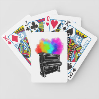 Jeu De Cartes Fumée colorée de piano