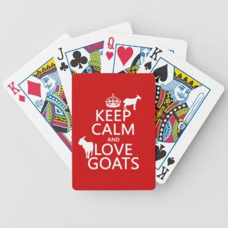 Jeu De Cartes Gardez le calme et aimez les chèvres