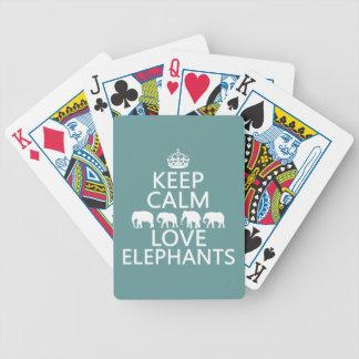 Jeu De Cartes Gardez le calme et aimez les éléphants (les