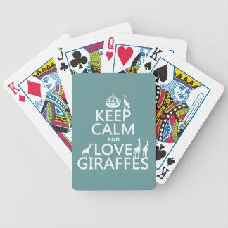 Jeu De Cartes Gardez le calme et aimez les girafes (toute