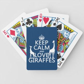 Jeu De Cartes Gardez le calme et aimez les girafes - toutes les