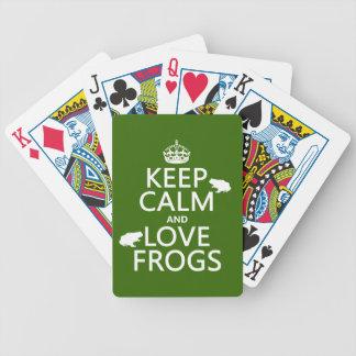 Jeu De Cartes Gardez le calme et aimez les grenouilles (toute