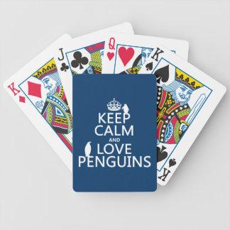 Jeu De Cartes Gardez le calme et aimez les pingouins (toute