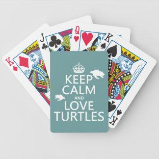 Jeu De Cartes Gardez le calme et aimez les tortues
