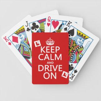 Jeu De Cartes Gardez le calme et conduisez sur (l'étudiant)