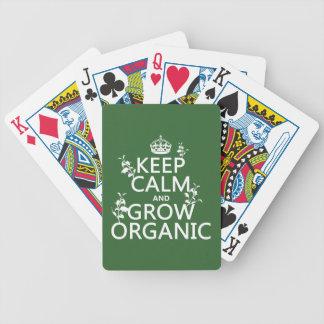 Jeu De Cartes Gardez le calme et développez-vous organique
