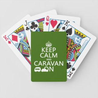 Jeu De Cartes Gardez le calme et la caravane sur (les couleurs