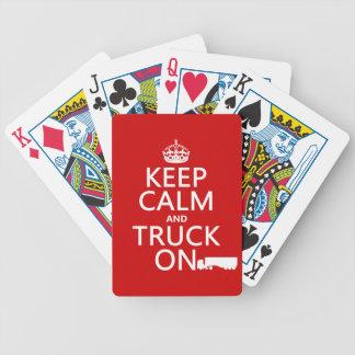 Jeu De Cartes Gardez le calme et le camion sur (dans toute