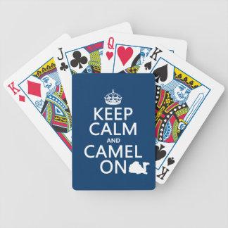 Jeu De Cartes Gardez le calme et le chameau sur (toutes les
